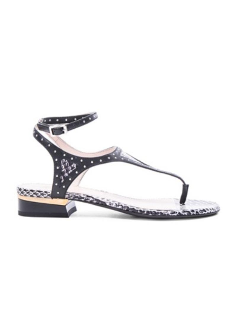 Lanvin Studded Flat Sandals