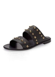 Lanvin Studded Leather Two-Band Mule