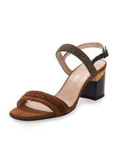 Lanvin Studded Suede City Sandal