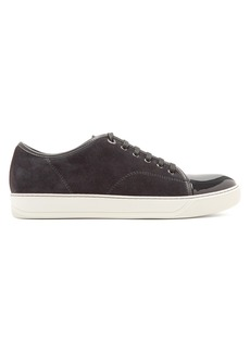 Lanvin Suede and patent-leather low-top trainers