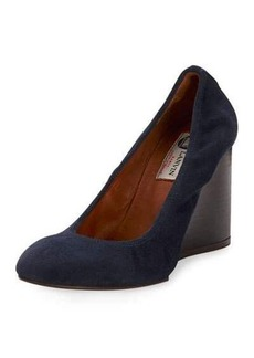 Lanvin Suede Ballerina Wedge Pump