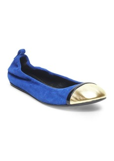 Lanvin Suede Cap Toe Ballerina Flats