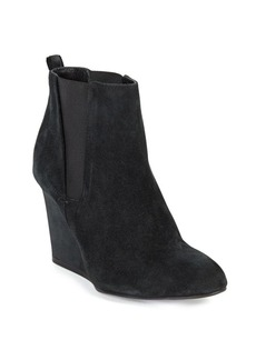 Lanvin Suede Chelsea Wedge Booties