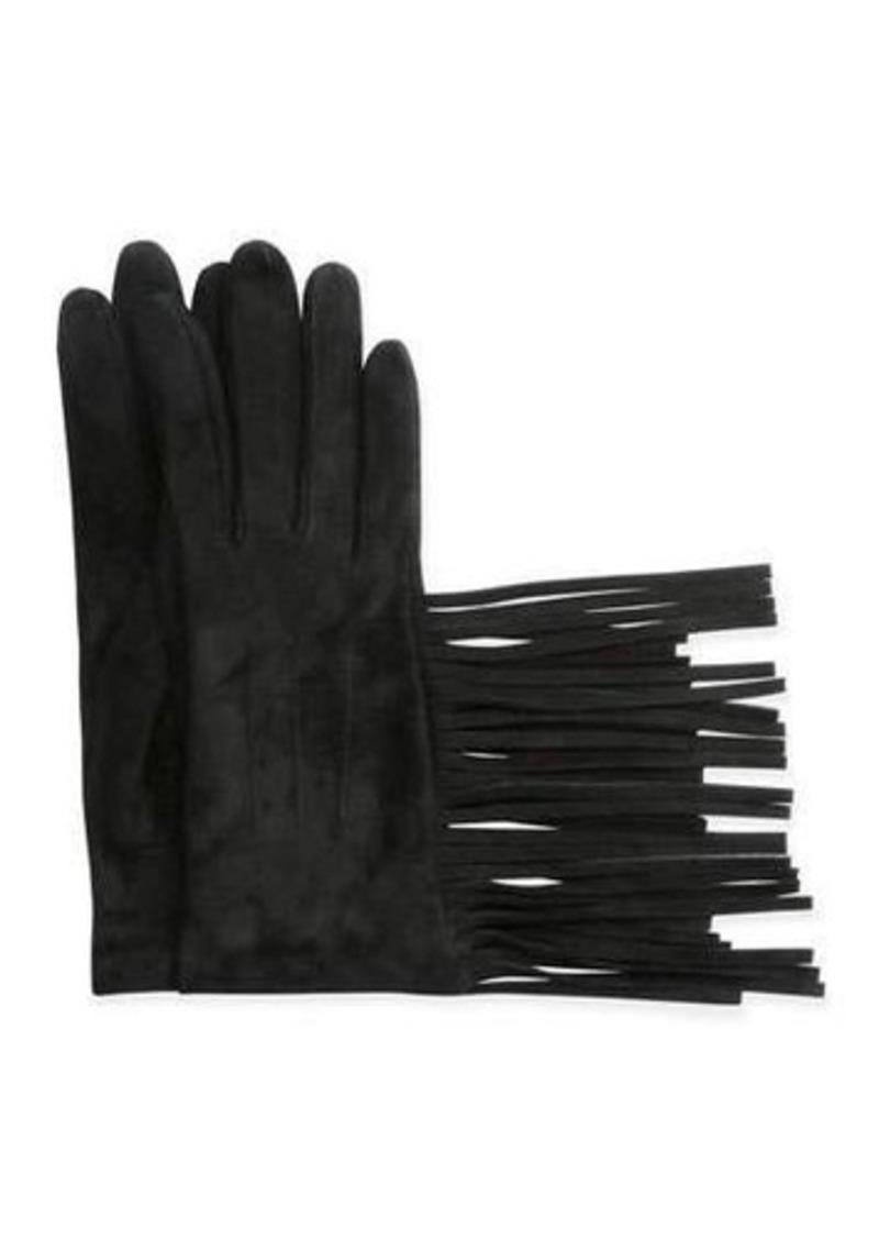 Lanvin Suede Gloves w/Fringe