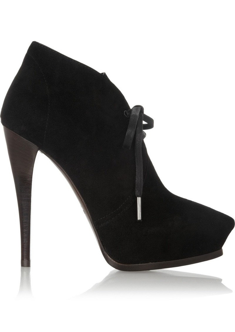 Lanvin Suede lace-up ankle boots