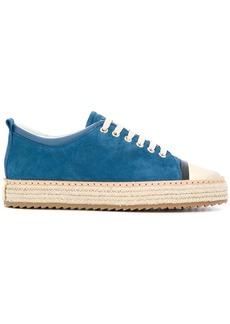 Lanvin suede platform sneakers - Blue