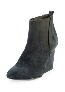 Lanvin Suede Wedge Chelsea Boot