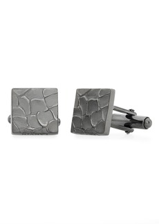 Lanvin Textured Square Cuff Links