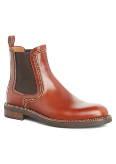 Lanvin Topstitched Chelsea Boot (Men)