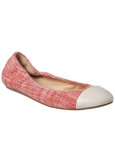 Lanvin Tweed Cap Toe Ballet Flat