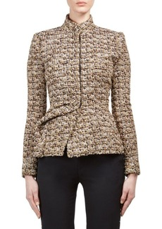 Lanvin Tweed Mockneck Jacket