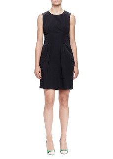 Lanvin Twisted Bow-Back Pleated Dress
