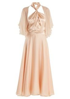 Lanvin Twisted halterneck silk midi dress