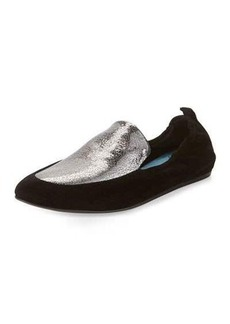 Lanvin Two-Tone Leather Slipper Flat