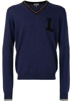 Lanvin V-neck sweater - Pink & Purple