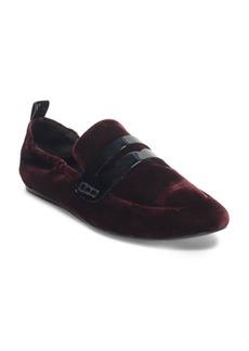 Lanvin Velvet Slip-On Loafers