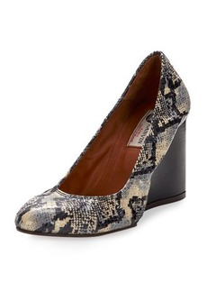 Lanvin Watersnake Ballerina Wedge Pump