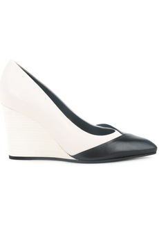 Lanvin wedge pumps - White