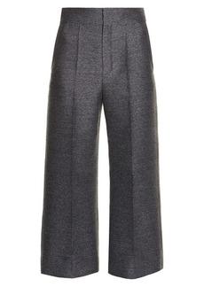 Lanvin Wide-leg flannel cropped trousers