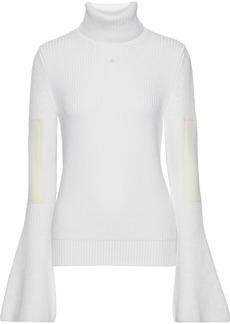 Lanvin Woman Appliquéd Ribbed Wool Turtleneck Sweater Ivory