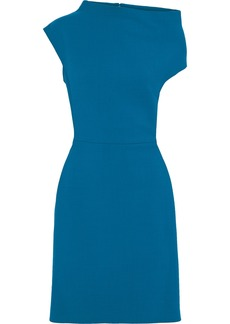 Lanvin Woman Asymmetric Wool-blend Dress Cobalt Blue