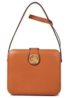 Lanvin Woman Bento Box Logo-embellished Leather Shoulder Bag Tan