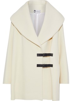 Lanvin Woman Buckled Leather-trimmed Wool-felt Coat Cream