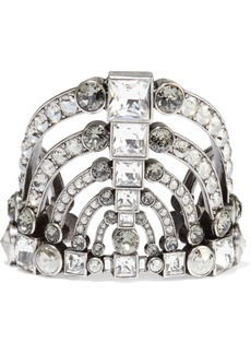 Lanvin Woman Burnished Silver-tone Crystal Cuff Silver