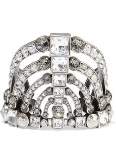 Lanvin Woman Burnished Silver-tone Crystal Cuff Silver