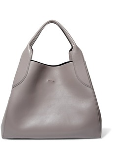 Lanvin Woman Cabas Medium Leather Tote Gray