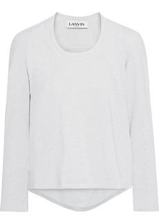Lanvin Woman Cotton-blend Lurex Top Silver
