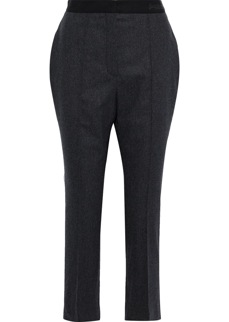 Lanvin Woman Cropped Wool-blend Felt Slim-leg Pants Charcoal