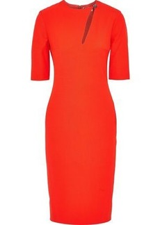 0214dac4634f Lanvin Woman Crystal-embellished Cutout Stretch-wool Twill Dress Tomato Red