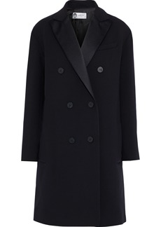 Lanvin Woman Double-breasted Wool-blend Twill Coat Black