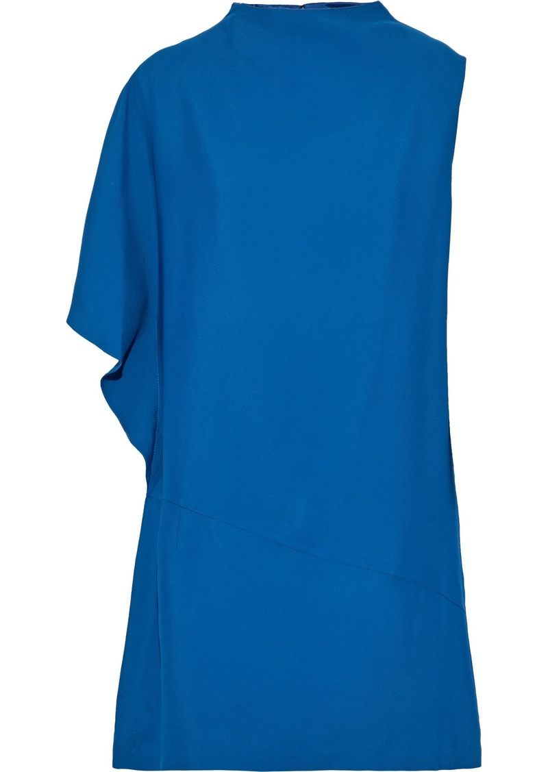 Lanvin Woman Draped Cady Mini Dress Blue