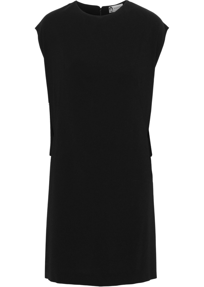 Lanvin Woman Draped Stretch-crepe Mini Dress Black