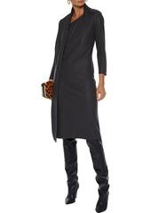 Lanvin Woman Draped Wool Dress Anthracite