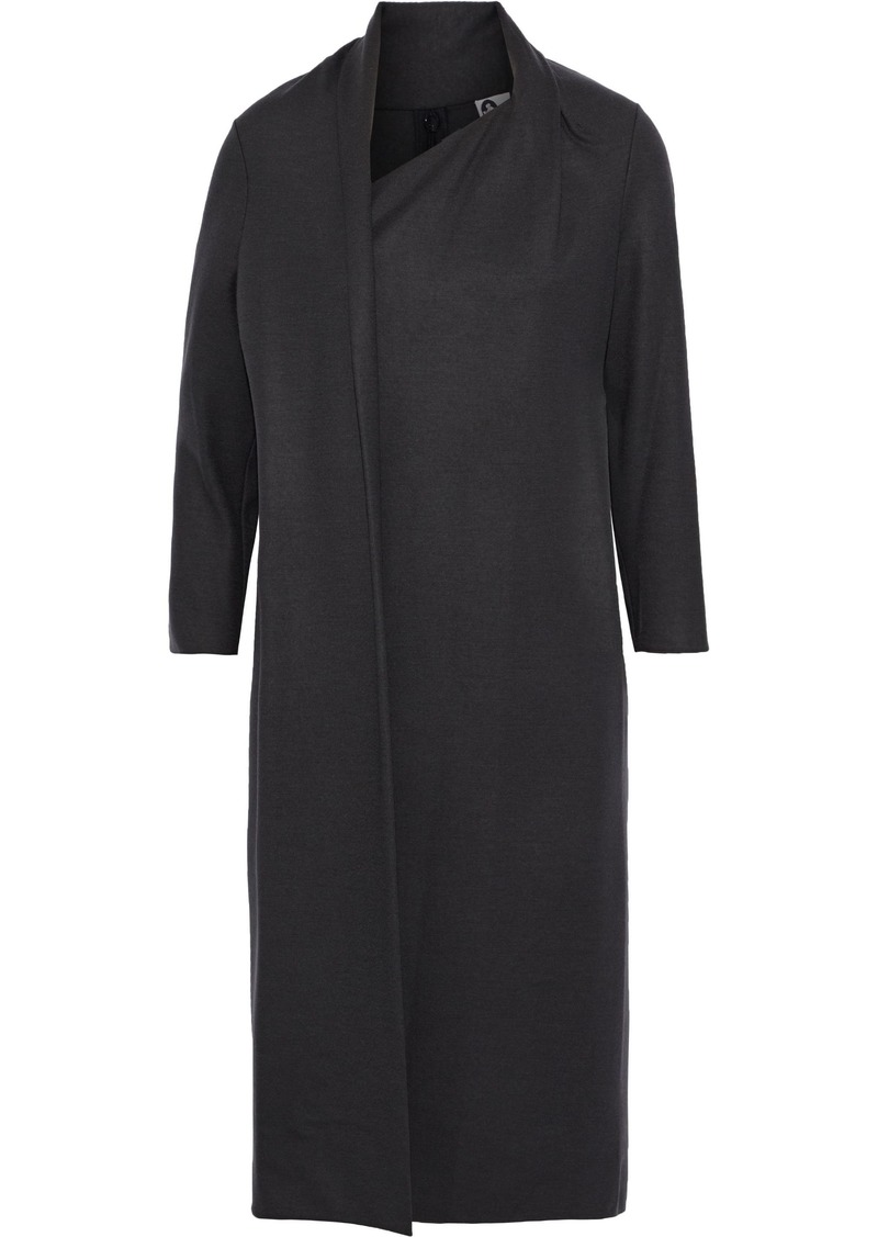 Lanvin Woman Draped Wool Dress Anthracite