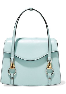 Lanvin Woman Embellished Leather Tote Sky Blue