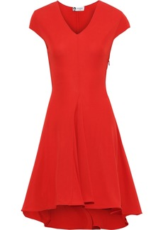 Lanvin Woman Flared Stretch-jersey Dress Tomato Red