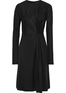 Lanvin Woman Gathered Wool Dress Black