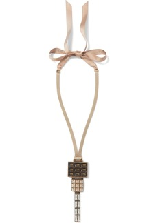 Lanvin Woman Gold-tone Silk And Crystal Necklace Gold