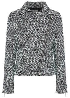 Lanvin Woman Metallic Bouclé-tweed Jacket Black