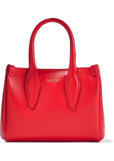 Lanvin Woman Micro Journée Leather Tote Red