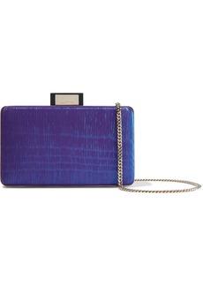 Lanvin Woman Minaudiere Cotton-lamé Box Clutch Royal Blue