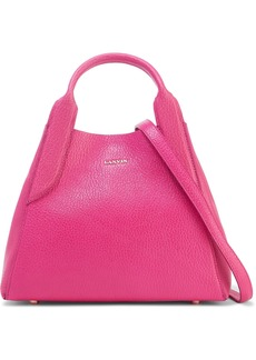 Lanvin Woman Mini Cabas Textured-leather Shoulder Bag Fuchsia