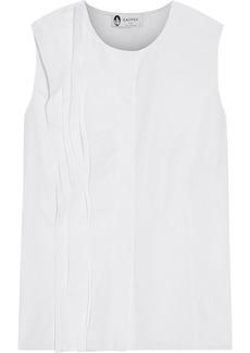 Lanvin Woman Pintucked Cotton-poplin Top White