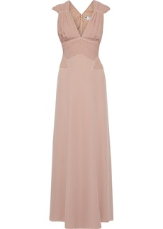 Lanvin Woman Pleated Washed-silk Gown Blush