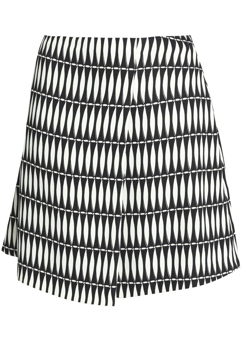 Lanvin Woman Printed Crepe Mini Skirt Off-white