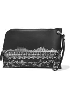 Lanvin Woman Printed Leather Pouch Black
